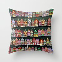 amsterdam Throw Pillows featuring Amsterdam by Joke Vermeer