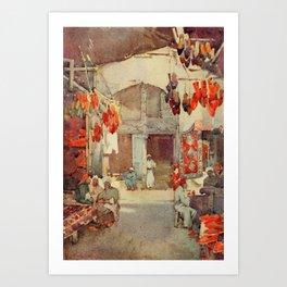 Cane, Ella du (1874-1943) - The Banks of the Nile 1913, The Shoe Bazaar, Cairo Art Print