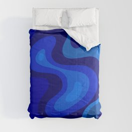 Blue Abstract Art Colorful Blue Shades Design Comforters