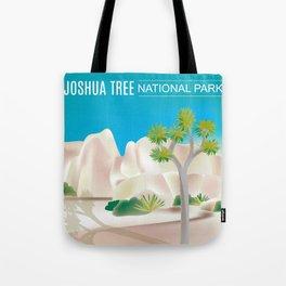 Joshua Tree National Park, California - Skyline Illustration by. Loose Petals Tote Bag