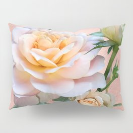 Peach Rose with Buds Pillow Sham