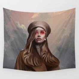 Fashion Girl Portrait Wall Tapestry