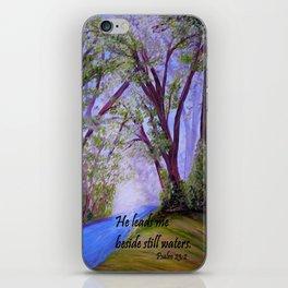 Beside Still Waters iPhone Skin