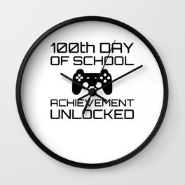 Kids Student Gamer Gift - 100th Day Of School Wall Clock