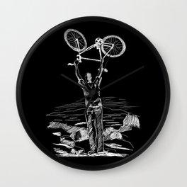 Bike Contemplation Wall Clock