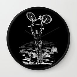 Bike Contemplation Wall Clock