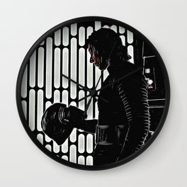 Kylo in the Dark Wall Clock