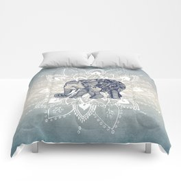 Elephant  Mandala Comforters