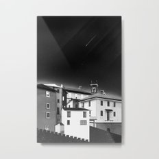 Castles at Night (B&W) Metal Print