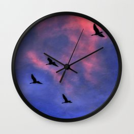 Morning Flight Wall Clock