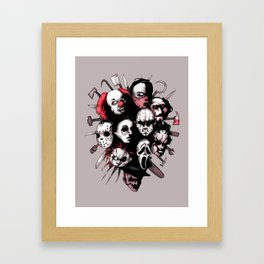 Horror Heroes Framed Art Print