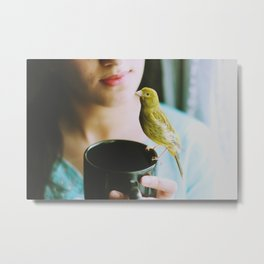 Bird whisperer  Metal Print