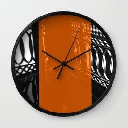 Neon Shadow Wall Clock