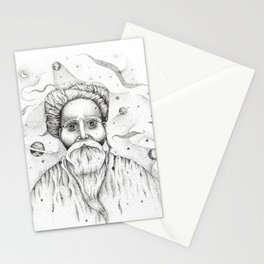 Aim for the moon, land in the stars Stationery Cards