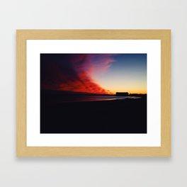 A Maine Winter Sunset Framed Art Print