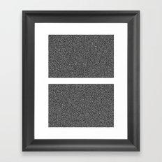 Noise Interrupted Framed Art Print