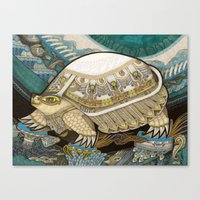 turtle Canvas Prints featuring Turtle by Yuliya
