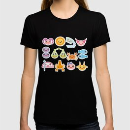Funny Kawaii zodiac sign, astrological stiker virgo, aries, gemini, cancer, aquarius, taurus,  leo T-shirt