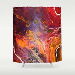 Red Corner of the Universe Shower Curtain