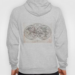 Vintage Map of The World (1848) Hoody