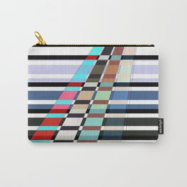 Colorful oblique lines . Abstract pattern 2 . Carry-All Pouch