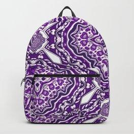 Purple Haze Violet Bohemian Pattern Art Design Backpack