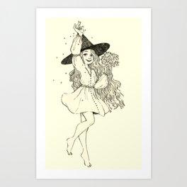 Coriander witch Art Print