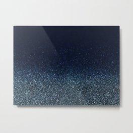 Shiny Glittered Rain Metal Print