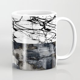 Two Faced - Double abstract patterns, marble and textured Coffee Mug