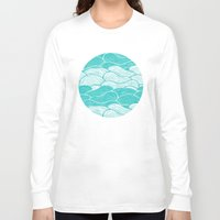 jazzberry Long Sleeve T-shirts featuring The Calm and Stormy Seas by Pom Graphic Design