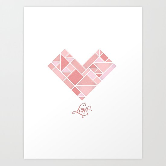 Love Shapes Art Print