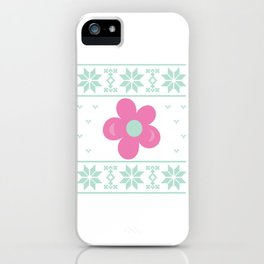 Flower christmas sweater iPhone Case