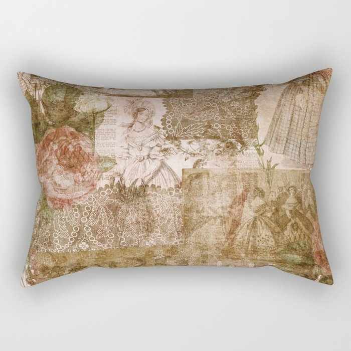 Vintage & Shabby Chic - Victorian ladies pattern Rectangular Pillow