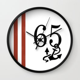 Nautical Number Print Wall Clock