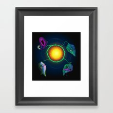 Butterfly Cycle - Painting Framed Art Print