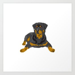Hottweiler dog Art Print
