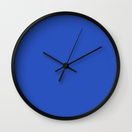 CERULEAN BLUE solid color Wall Clock