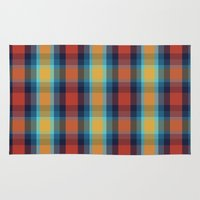 plaid Area & Throw Rugs featuring Plaid by Sierra Neale
