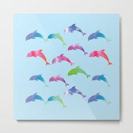 Dolphins Metal Print