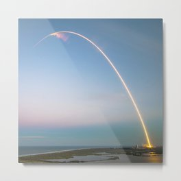 Space, Space, Space, Stars, Moon and Mars / Rocket Launch to Space, Sky, NASA Metal Print