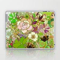 Detailed summer floral pattern, green Laptop & iPad Skin
