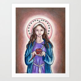 The Immaculate Heart of Mary Art Print