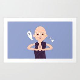 Bouddha Love Art Print