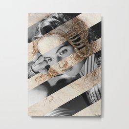 Leonardo Da Vinci's Head of Leda & Ingrid Bergman Metal Print