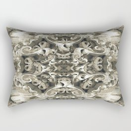 Sculpted Flower Frieze Rectangular Pillow