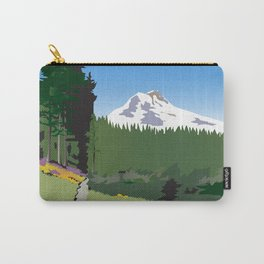 Mt Hood Meadows Hike Carry-All Pouch