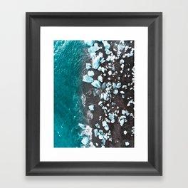 Diamond Beach, Iceland Framed Art Print