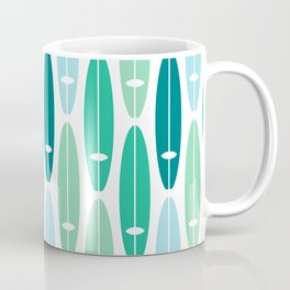 Vintage Surf Boards in Turquoise, Teal and Blue Coffee Mug