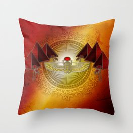 Egyptian sign, the scarab Throw Pillow