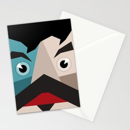 Face abstraction Stationery Cards